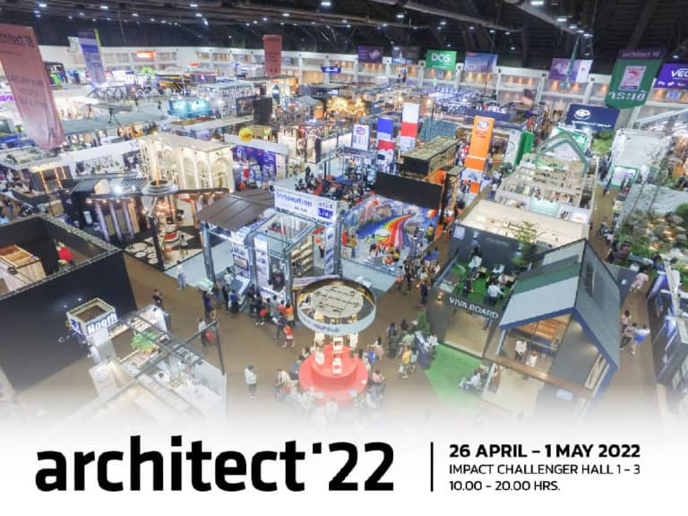"""TTF gears up for organizing """"Architect Expo 2022"""". A grand exposition sets up entirely in three Challenger Halls, IMPACT Muang Thong Thani, with a variety of special activities."""